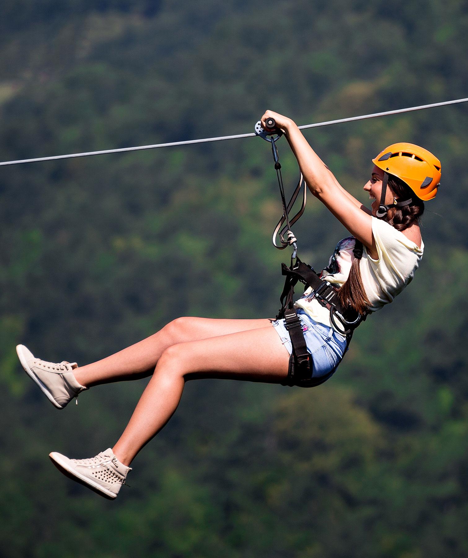 Zip-line-girl